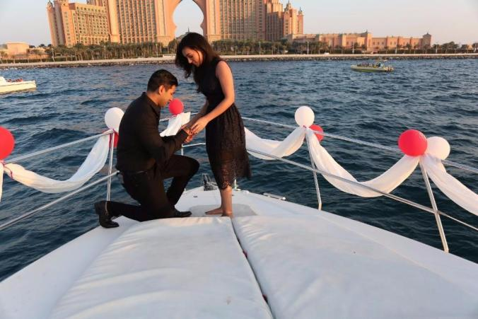 proposal in boat