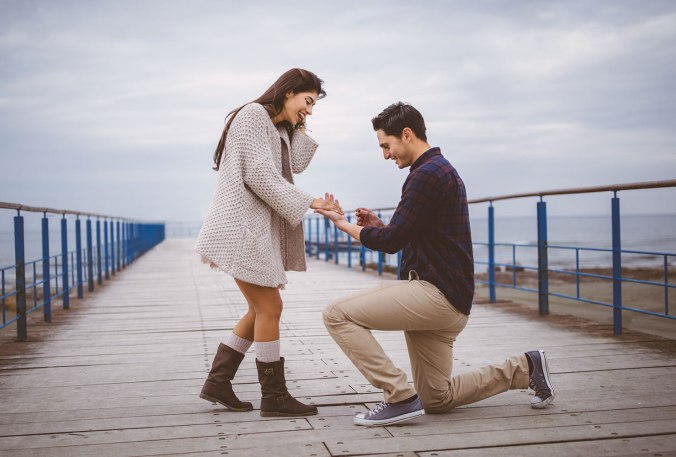proposal with a ring