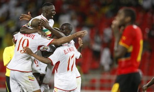 Caption: Mali's four goals in 16 minutes at the 2010 Africa Cup of Nations won one lucky bettor 5,600 €. (Source: TheGuardian.com)