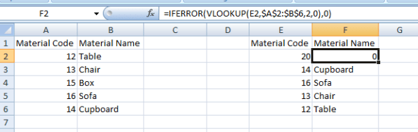 How to remove #N/A error in vlookup