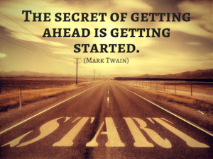 Image showing 'Getting Ahead' quote by Mark Twain