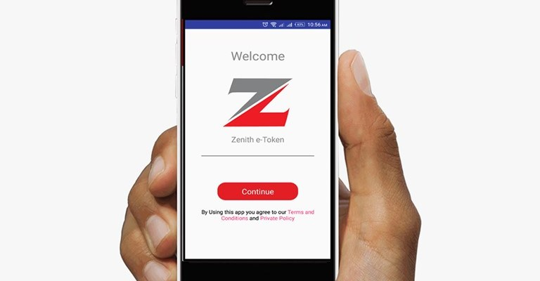 Zenith bank token