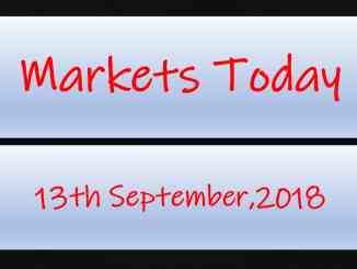 Markets Today - 13th September,2018