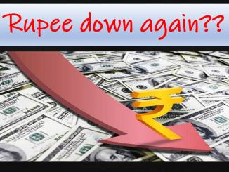 Rupee down again??