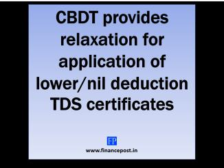 CBDT provides relaxation for application of lower/NIL deduction TDS certificates w.r.t. FY 2020-21 Due to the outbreak of the COVID-19 pandemic and the lock down has caused disruption in functioning of the Income Tax Department. This has lead to many applications which were made by many payees who have applied for the Lower/ Nil deduction TDS/TCS certificates u/s 195 or 197 or 206C(9) which could not be attended by the Income tax officers in a timely manner. CBDT has issued an order u/s 119 dated 31st March 2020 for assurance of taxpayers which provides relaxation in the process of application and issuance of lower/ nil rate certificate of TDS or TDS for the Financial year 2020-21. Considering the hardships of assessees and Assessing Officers, CBDT has made the following clarifications :- ⊗ Assessees who had lower/NIL rate TDS certificate in the FY 2019-20 Assessees who have APPLIED for the FY 2020-21 - Assessees whose applications are pending for disposal on the TRACES portal, then the certificates issued in FY 2019-20 would be applicable upto 30th June 2020 or the date of disposal of application, whichever is earlier. Assessees who have NOT APPLIED for the FY 2020-21 - The certificates issued in FY 2019-20 would be applicable upto 30th June 2020. However, the need to apply for the certificate at the earliest as soon as the normalcy is restored as explained below. ⊗Assessees who did not have lower/NIL rate TDS certificate in the FY 2019-20 Assessees who have NOT APPLIED for the FY 2020-21 - A modified procedure for application and consequent handling by the Assessing Officer is laid down as explained below. ⊗ NRI Assessees having Permanent Establishment in India Regarding payment required to be made to NON- RESIDENTS having Permanent Establishment in India (not covered above) - Tax shall be deducted at the rate of 10% (including surcharge and cess), on payments made till 30.06.2020 or disposal of their applications, whichever is earlier. How to apply for lower/NIL 