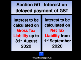 Interest on GST to be levied on net tax liability from 1st September 2020