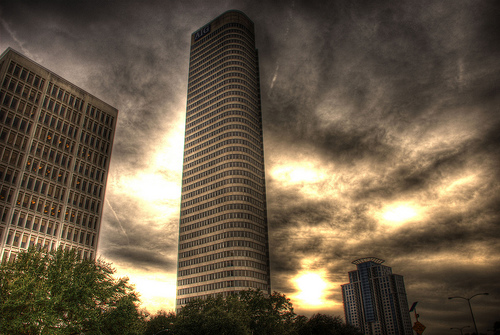 """""""AIG building........ close to downtown houston"""" by Dredrk. aka Mr Sky's"""