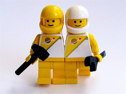 """The Astronaut Twins"", by oskay - Flickr"