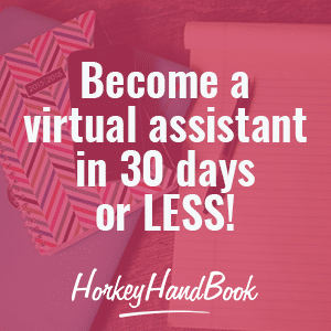 Become a virtual assistant in 30 days or less! Affordable course to start your VA side hustle