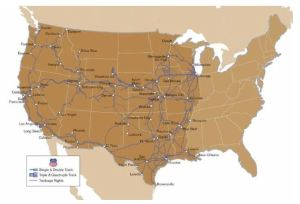 Union Pacific System Map