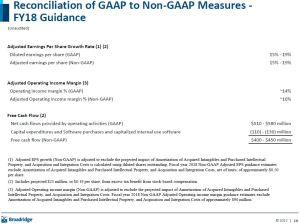 BR - Recon of GAAP to Non GAAP Measures FY18 Guidance