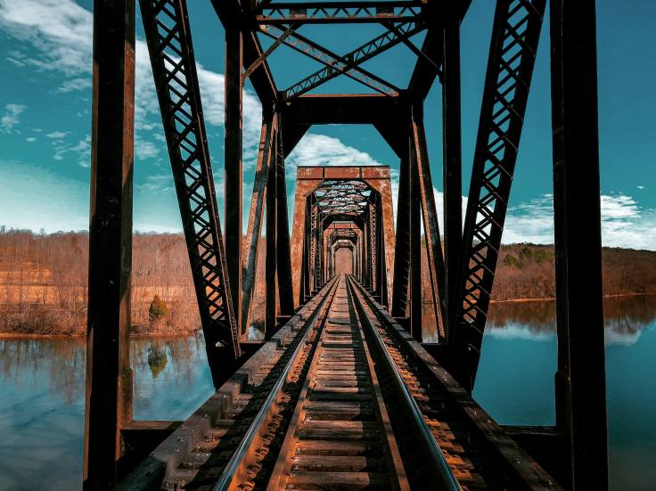 Financial Glass - Railroad Bridge Over Water