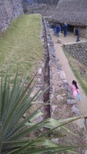 One of the many ducts for the movement of water at Machu Picchu.