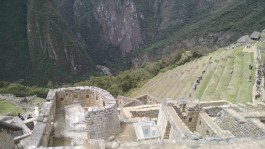 Overlooking the Temple of the Sun and the terraces beyond.