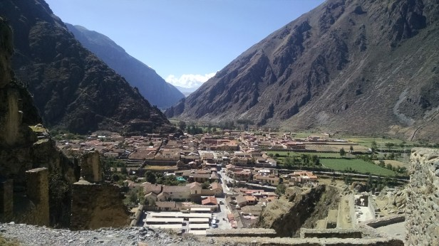Looking out over Ollantaytambo from the top of the ruins.