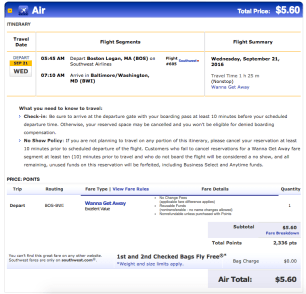 Booking with points, you still have to pay the government-imposed security fee.
