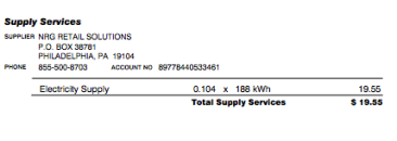 NRG electrical supply portion.