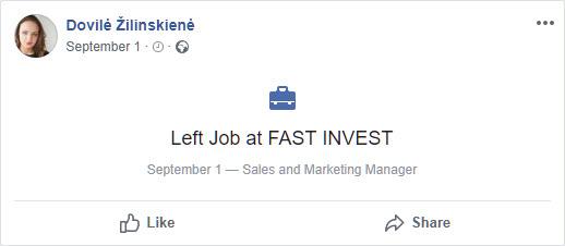 Dovile left FastInvest