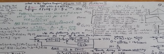 Equations and notes from my system dynamics class