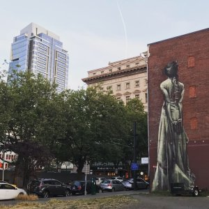 famous portland mural of a woman