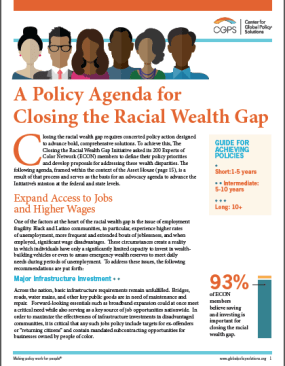 Policy Agenda front page