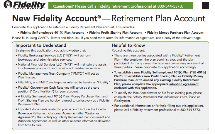 Fidelity Solo 401k A Step By Step Guide To Setting Up
