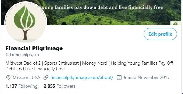 Twitter profile photo for Financial Pilgrimage