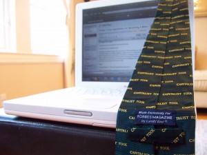 Maybe I'll wear the tie on Monday Steve.