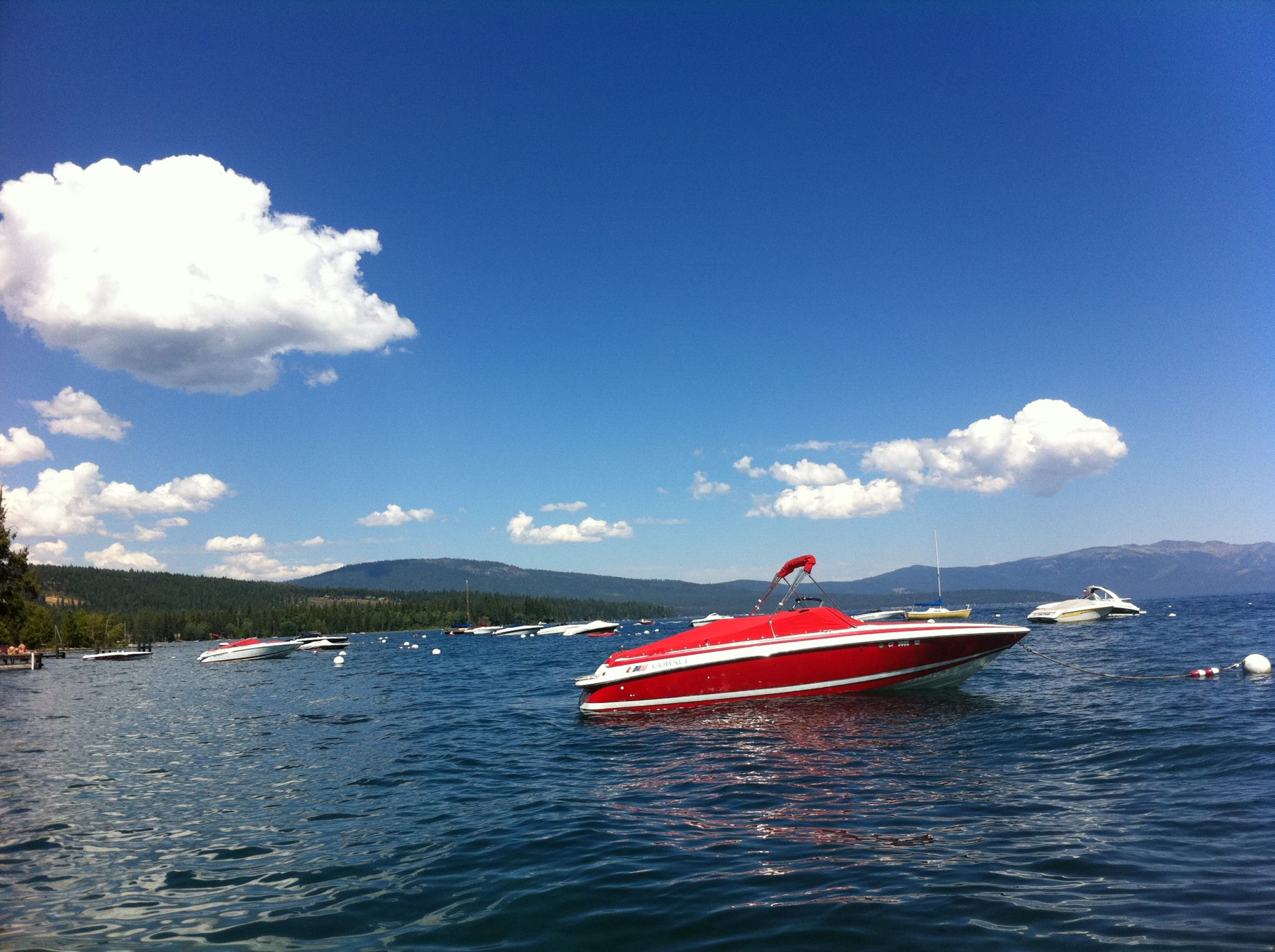 Red Boat on Lake Tahoe - what income level is considered rich