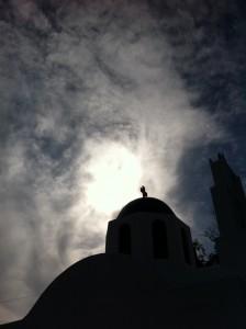 Santorini Church and Cross