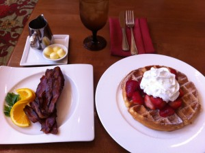 Waffle and Bacon