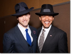 Robert Mailer Anderson and President Obama