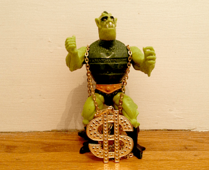 Lizard Man With $ Gold Chain