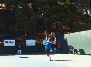 Tennis Serve At Tiburon Challenger