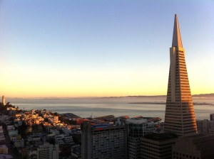 San Francisco Sunset TransAmerica Building