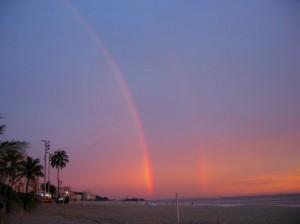 Double rainbow on Ipanema beach, Rio de Janeiro