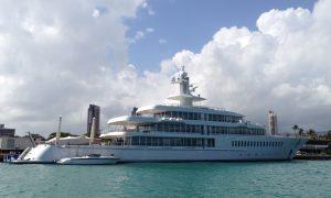 Larry Ellison's Mega Yacht Musashi In Oahu