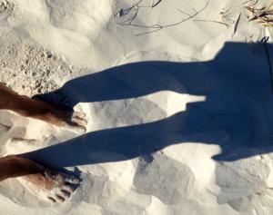 Sinking in sand