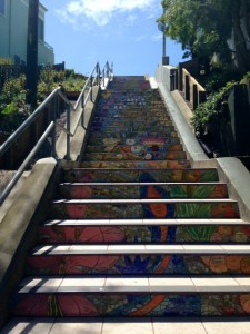 Hidden Mosaic Steps, San Francisco