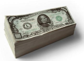 Stack of money cash
