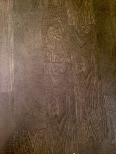 Porcelain wood-looking tile