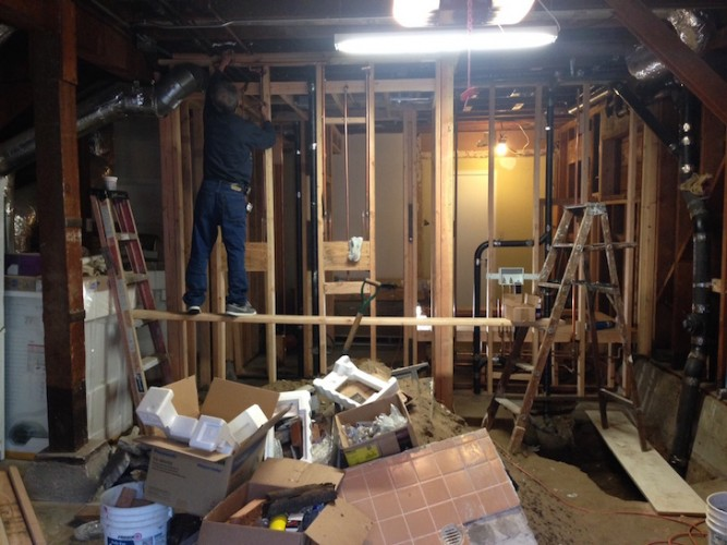 Bathroom Construction Rough