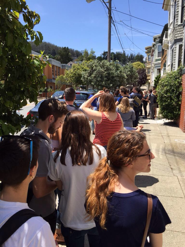 Long Lines At SF Open House  - Should I Buy A Home In A Rising Interest Rate Environment?