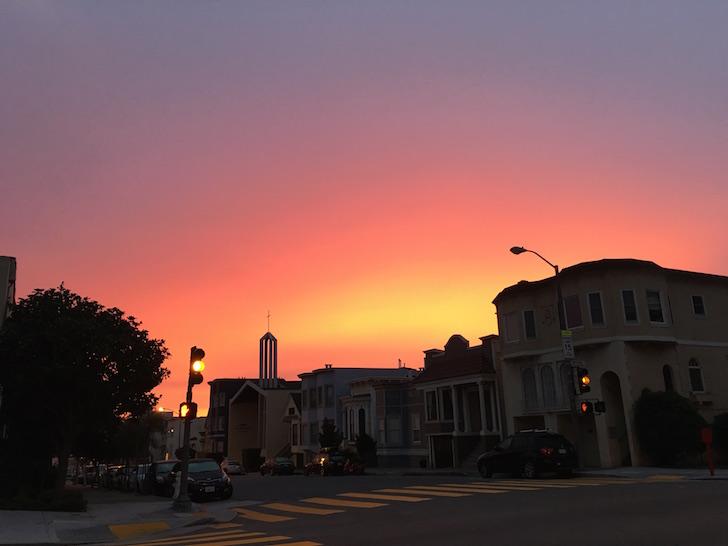San Francisco Sunrise 7:15am