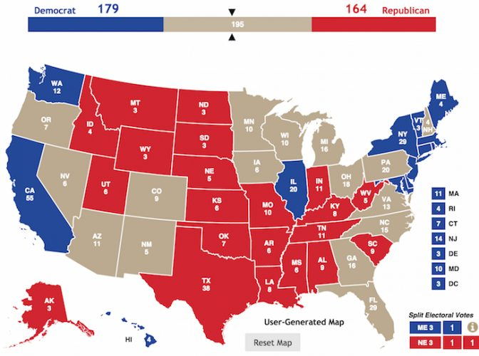 Battleground States For Presidential Election