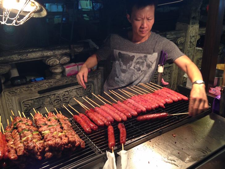 Taiwanese sausages (xiang chang)