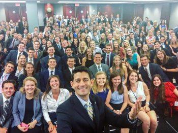 Paul Ryan Internship Selfie