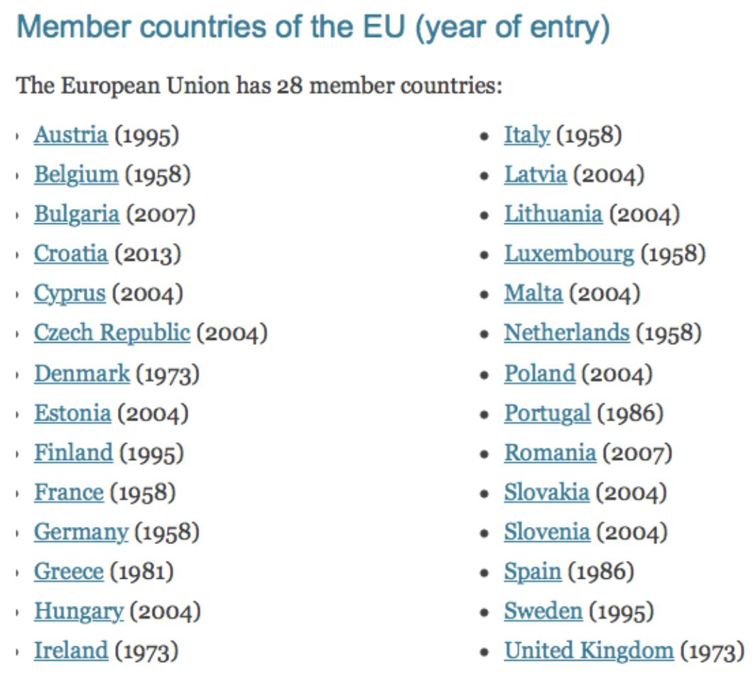 The U.K. joined the EU in 1973, the same year as Ireland and Denmark.