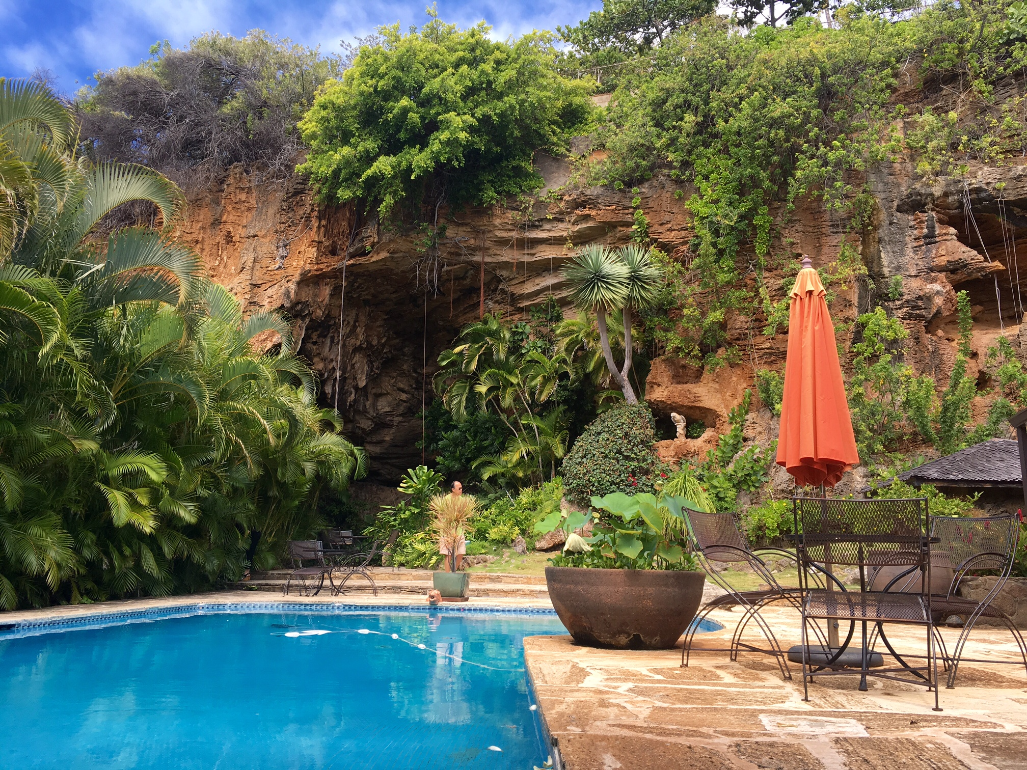 A 4/4 house in Kahala with your own cave. Amazing grounds asking $3M.