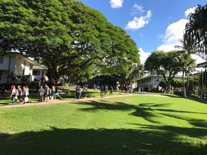 Punahou school campus for high school